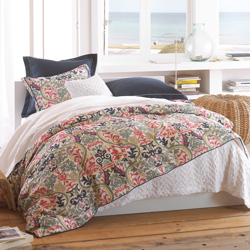 peacock alley catalina coral duvet covers