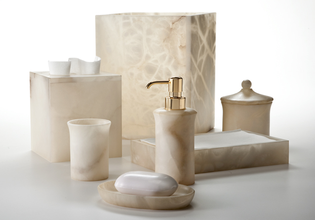 Bath Furnishings Labrazel Alabaster Bath Accessories Alisa Cream