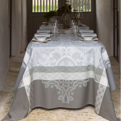 Le Jacquard Francais Azulejos Grey Table Linens | J Brulee Home