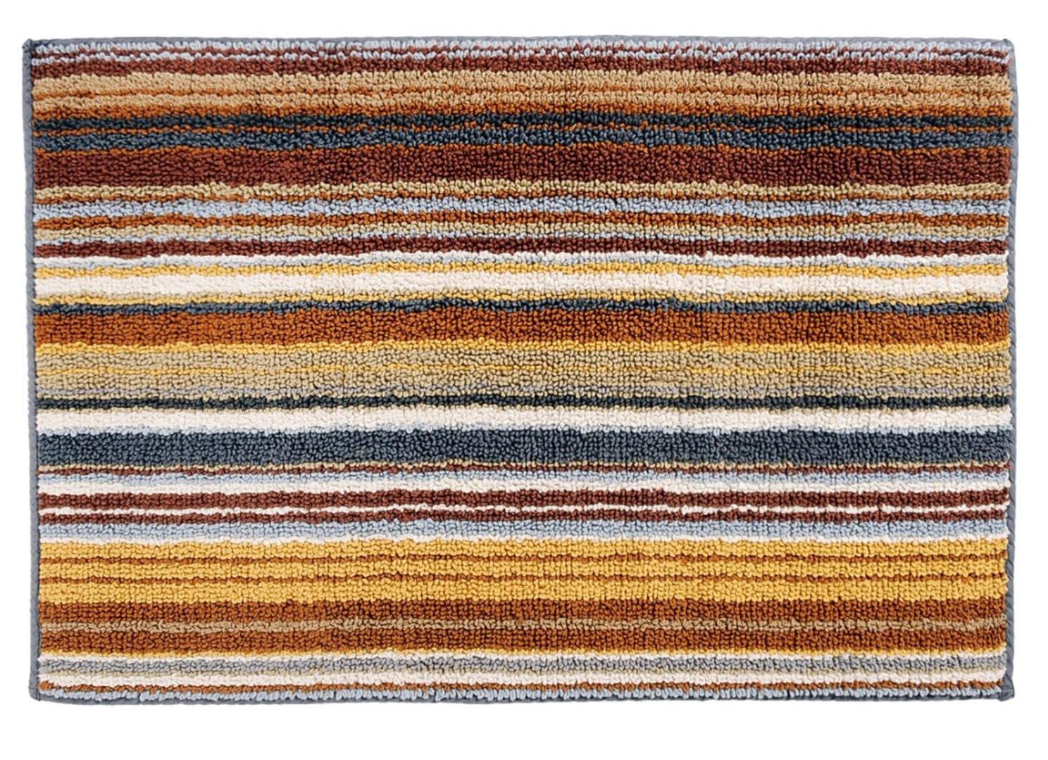 . Missoni Home Jazel 160 Brown Striped Bath Rug