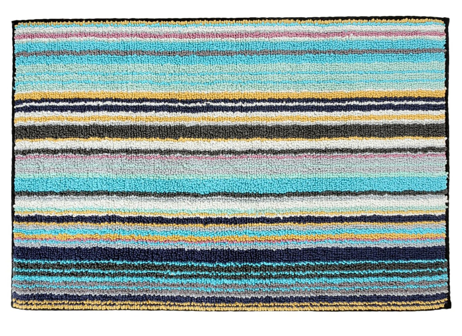 missoni home rugs  roselawnlutheran - missoni home jazel  turquoise blue striped bath rug