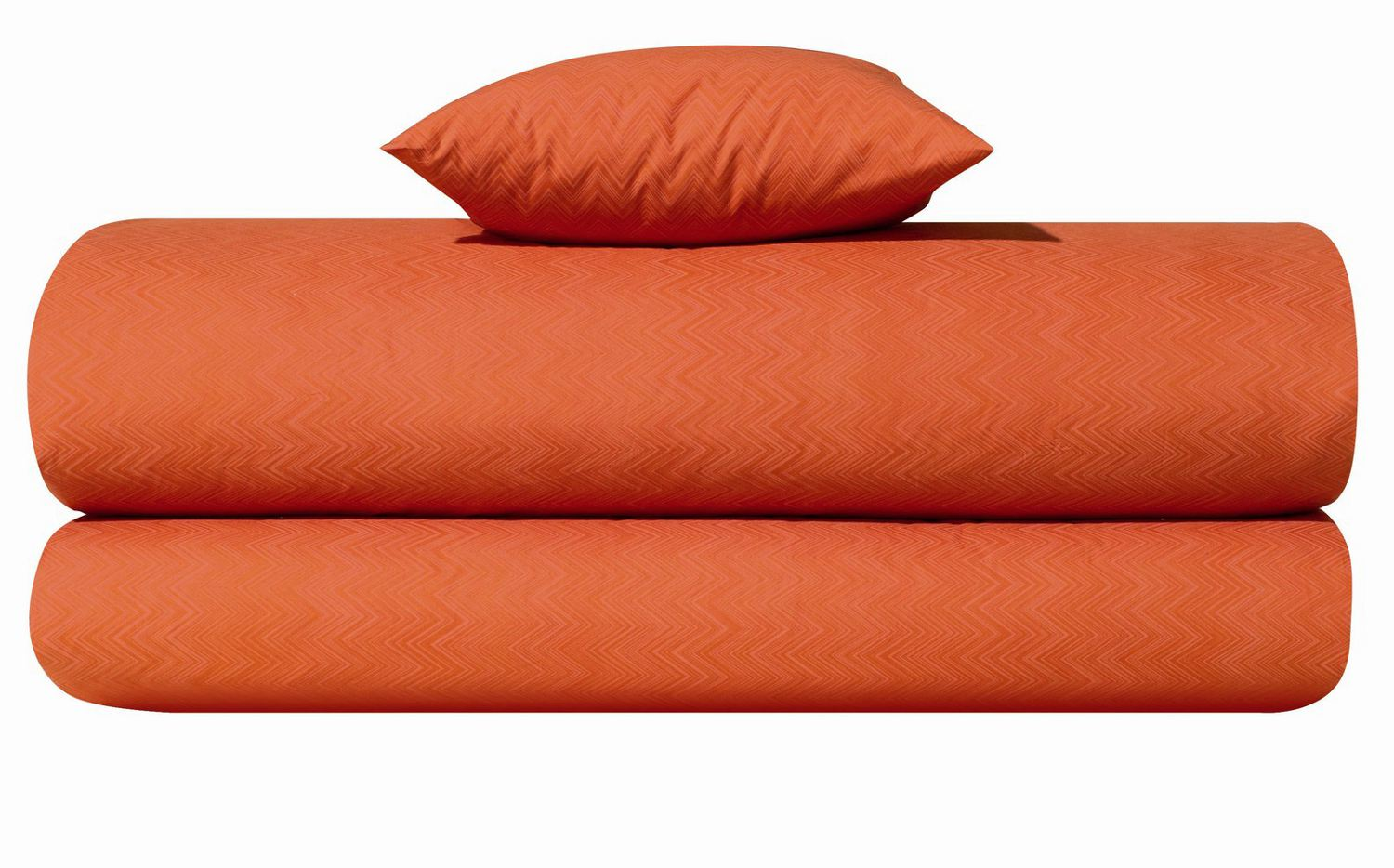 missoni jo orange color zig zag print sheets and duvet covers