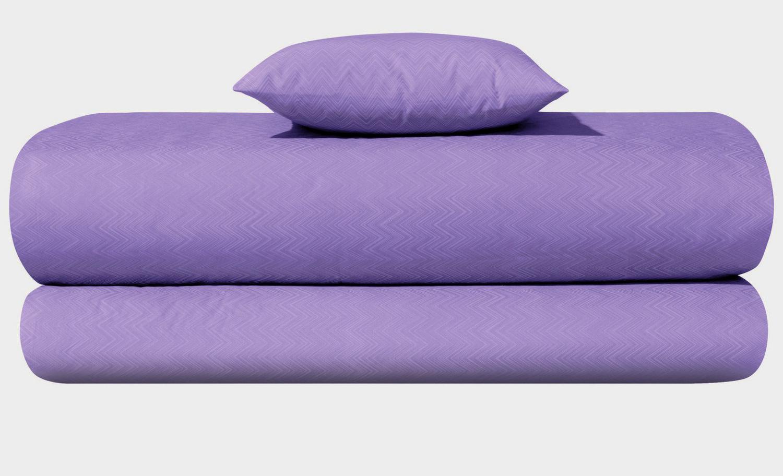 bright purple sheets -