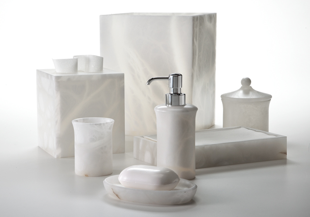 Bath Furnishings Labrazel Alabaster Bath Accessories Alisa White