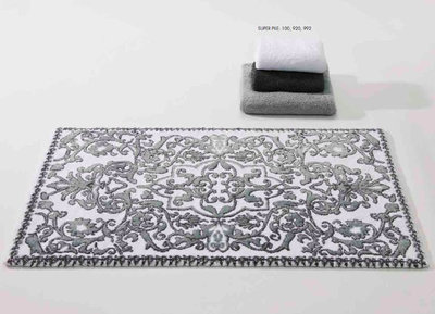 Abyss Habidecor Perse Silver Bath Mat Rugs