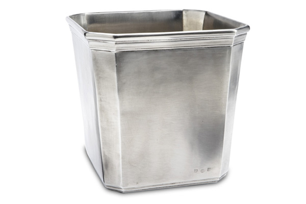 Match Italian Pewter Dolomiti Waste Basket