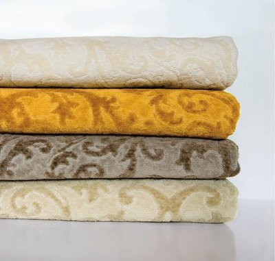 Abyss Barocco Towels. Scroll Pattern Towels by Abyss, 5 Colors