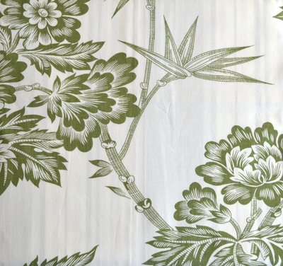 Green Amp Ivory Tropical Green Toile Shower Curtains
