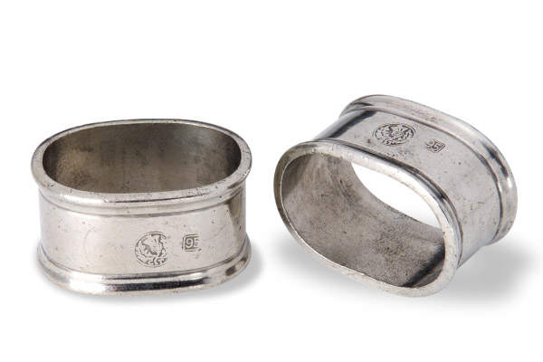 Oval Napkin Ring by Match Pewter