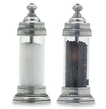 Toscana Salt & Pepper Mills by Match Pewter