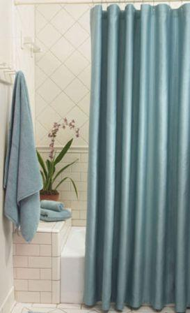 Ottoman Ribbed Cotton Shower Curtains in 24 Colors