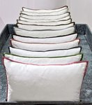 Ann Gish Snap Cotton Duvet Covers with Colored Silk Trim