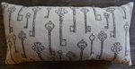 Antique Key Design Bolster Pillow