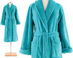 Aqua Color Bath Robe.  Pine Cone Hill Sheepy Fleece Aqua Robe