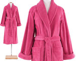 Fuchsia Pink Bath Robe.  Pine Cone Hill Sheepy Fleece Fuchsia Robe