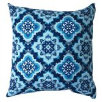 Indigo Blue & Teal Turkish Tile Pattern Pillow