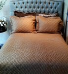 SDH Mino Golden Brown Silk Queen Coverlet Set