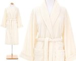 Ivory Color Bath Robe.  Pine Cone Hill Sheepy Fleece Ivory Robe