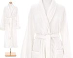 White Color Bath Robe.  Pine Cone Hill Sheepy Fleece White Robe