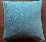 Turquoise Velvet Throw Pillow