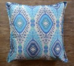 Turquoise, Aqua Blue & Silver Southwest Design Accent Pillow