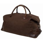 Moore & Giles Benedict Weekend Bag - Nubuck Bison Chocolate