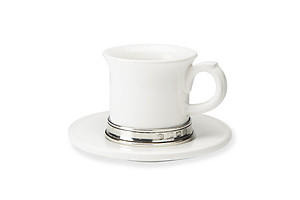 Espresso Cup with Saucer by Match Pewter