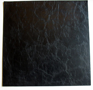 Black Square Plain Faux Leather Placemats by Bodrum