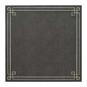 Bodrum Link Charcoal Grey Silver Square Easy Care Placemats - Set of 4