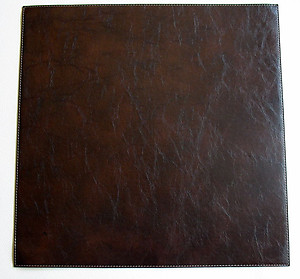 Brown Square Plain Faux Leather Placemats by Bodrum