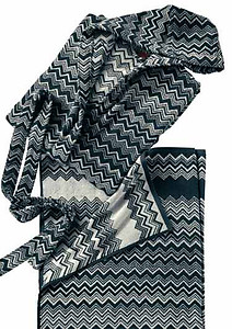 Missoni Keith Zig Zag Black & White Bathrobes and Towels