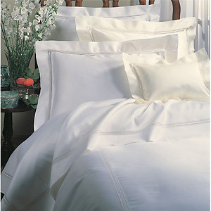 Sferra Lace Inset Sheets & Bedding - Diamante, 2 Colors