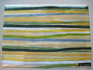 Stripes Green Wipeable Placemats by Liora Manne