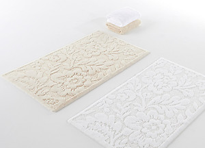 Habidecor Brighton Textured Floral Bath Mat Rugs, 3 Colors