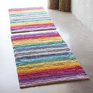 Abyss Habidecor Larry Striped Bath Rug