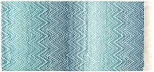 Missoni Timmy Blue Throw Blanket - Color 741