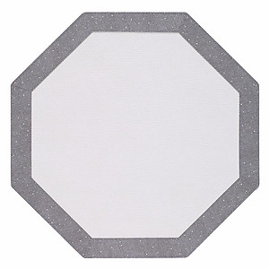 Bodrum Bordino Silver Sparkle Octagon Easy Care Place Mats - Set of 6