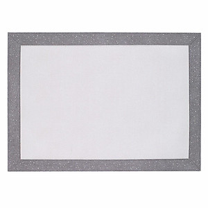 Bodrum Bordino Silver Sparkle Rectangle Easy Care Place Mats - Set of 4