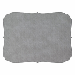 Bodrum Curly Grey Oblong Easy Care Placemats - Set of 4