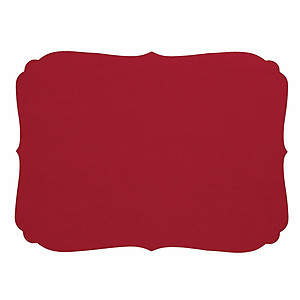 Bodrum Curly Red Oblong Easy Care Placemats - Set of 4