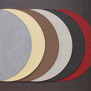 Bodrum Gem Pearl Round Easy Care Place Mats - Set of 6