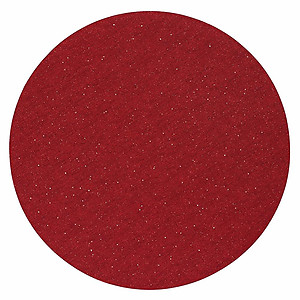 Bodrum Gem Ruby Red Round Easy Care Place Mats - Set of 6