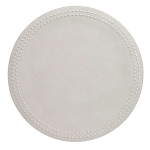 Bodrum Pearls White Round Easy Care Placemats - Set of 4
