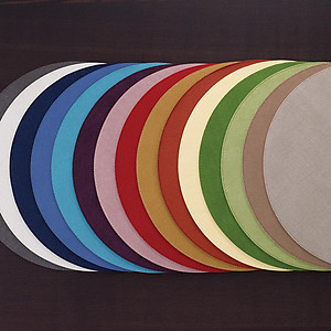 Bodrum Presto Periwinkle Blue Round Easy Care Placemats - Set of 6