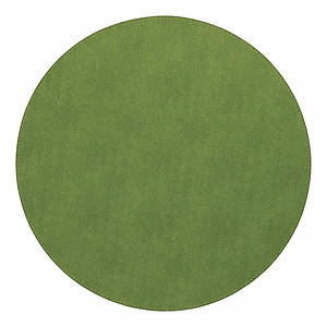 Bodrum Presto Grass Green Round Easy Care Placemats - Set of 6