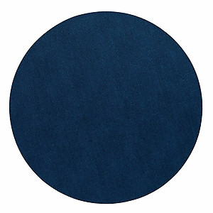 Bodrum Presto Navy Blue Round Easy Care Placemats - Set of 6