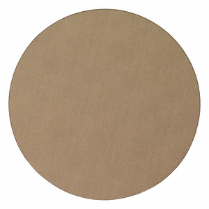 Bodrum Presto Tobacco Brown Round Easy Care Placemats - Set of 6