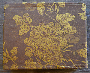 Brown & Gold Floral Sheets - SDH Josephine Chocolate