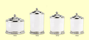 Match Italian Pewter Cannisters & Cookie Jar
