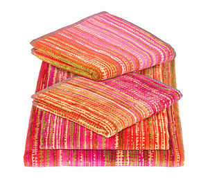 Elaiva Pink Grass Towels